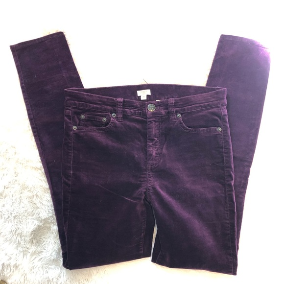 J. Crew Factory Denim - J. Crew Factory Purple Velvet Jeans